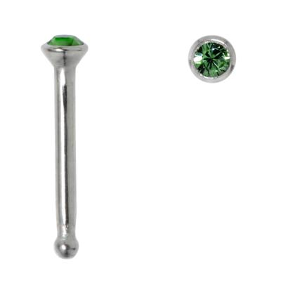 Nasenpiercing Chirurgenstahl 316L Kristall