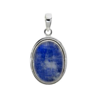 Stein-Anhänger Silber 925 Blauer Mondstein