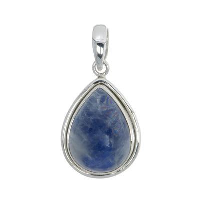 Pendentif de pierre Argent 925 Pierre de lune bleue Goutte Forme_de_goutte