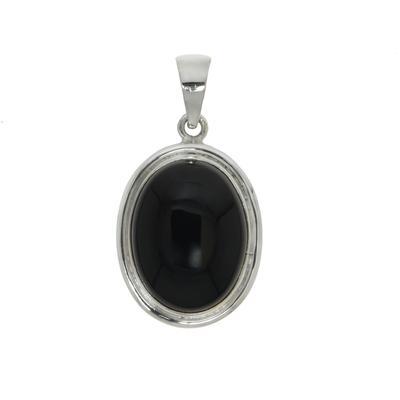 Stein-Anhänger Silber 925 Schwarzer Onyx