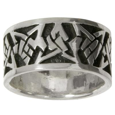 Fingerring Silber 925 Tribal_Zeichnung Tribal_Muster Dreieck Stern