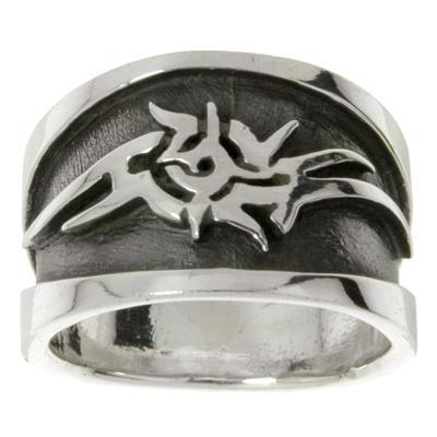 Fingerring Silber 925 Tribal_Zeichnung Tribal_Muster