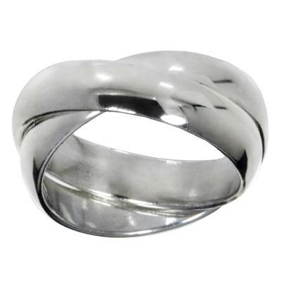 Fingerring Silber 925 Ewig Schlaufe Endlos