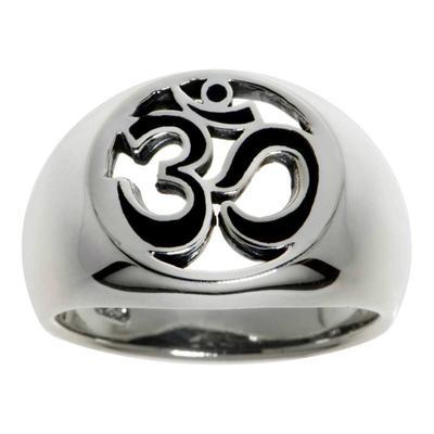 Fingerring Silber 925 Email Om Aum Gott