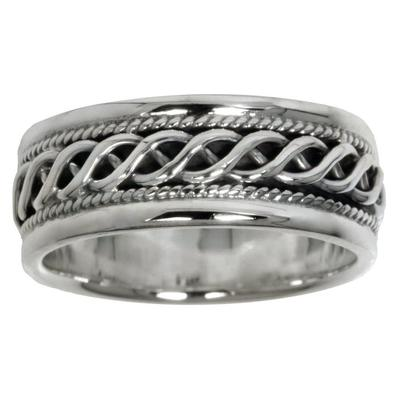 Bague de doigt Argent 925 Dessin_tribal Motif_tribal Vague Onde Lame