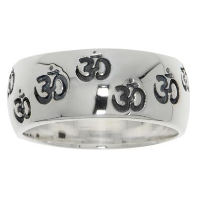 Fingerring Silber 925 Om Aum Gott