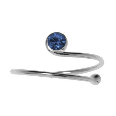 Kinder Ring Silber 925 Kristall Spirale