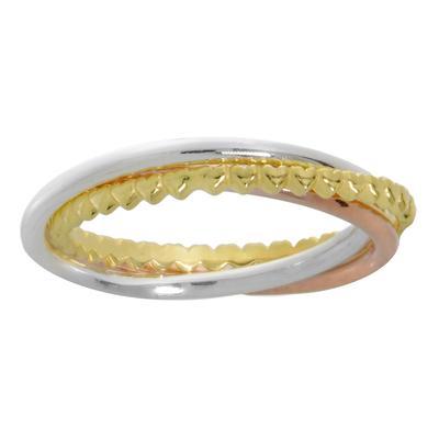 Fingerring Silber 925 Gold-Beschichtung (vergoldet) Herz Liebe Love Liebe