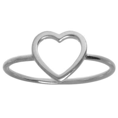 Anillo Plata 925 Corazón Amor