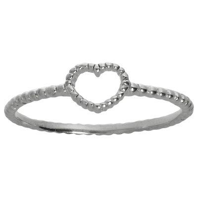 Fingerring Silber 925 Herz Liebe