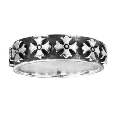Fingerring Silber 925 Kreuz