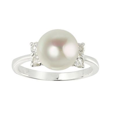 Fingerring Silber 925 Süsswasserperle Kristall