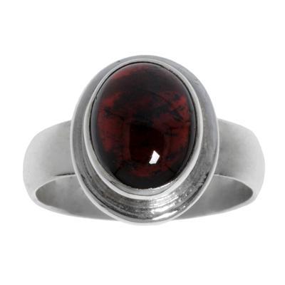Fingerring Silber 925 Granat