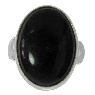 Fingerring Silber 925 Schwarzer Onyx