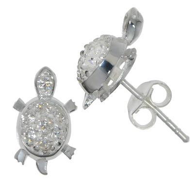 Ohrstecker Silber 925 Kristall Schildkröte