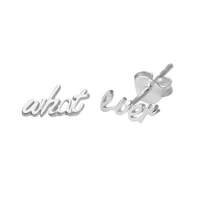 Ohrstecker Silber 925 Buchstabe Zahl Ziffer