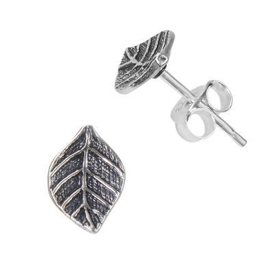 Ohrstecker Silber 925 Blatt Pflanzenmuster Florales_Muster