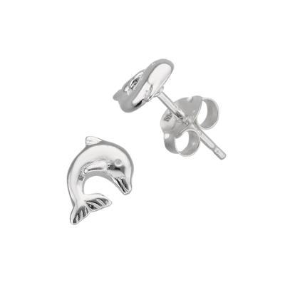 Kinder Ohrringe Silber 925 Delphin Delfin