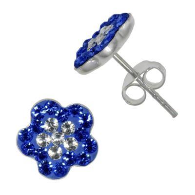 Ohrstecker Silber 925 Kristall Blume