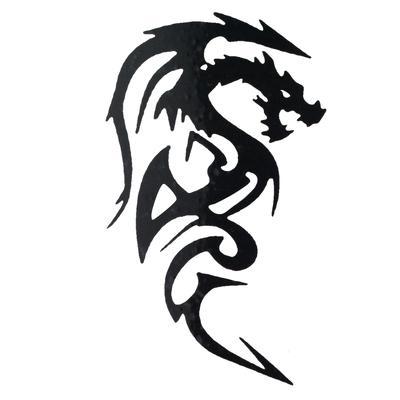 Fake-Tattoo Drache Tribal_Zeichnung Tribal_Muster