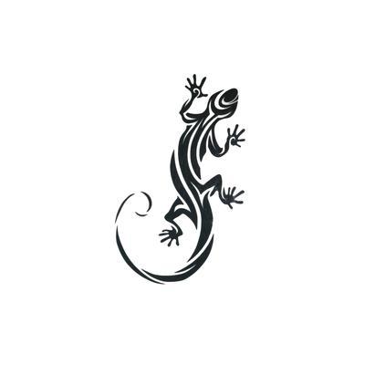 Kinder Fake Tattoo Salamander Gecko Gekko