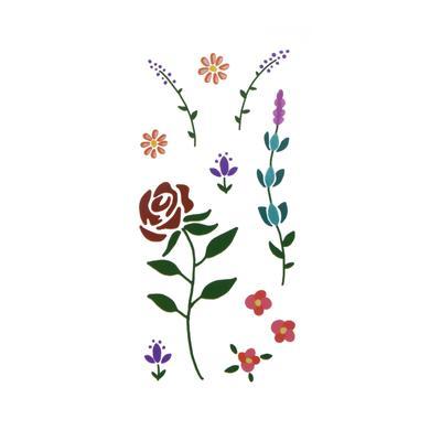 Fake-Tattoo Blume Blatt Pflanzenmuster Florales_Muster