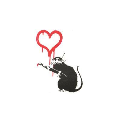 Fake-Tattoo Herz Liebe Tierfell Tiermuster Fellmuster