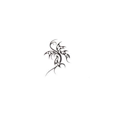 Fake-Tattoo Tribal_Zeichnung Tribal_Muster Schmetterling Sommervogel