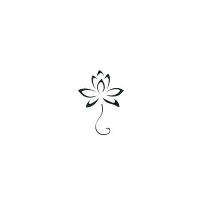 Fake-Tattoo Blume