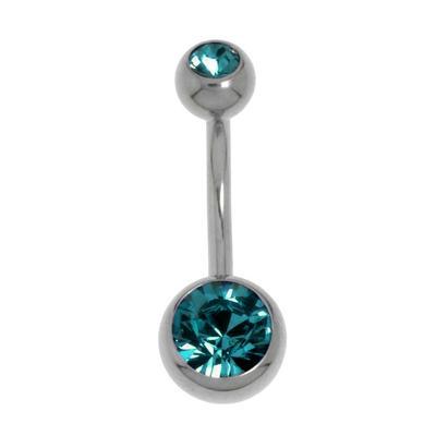 Piercing nombril Titane Cristal