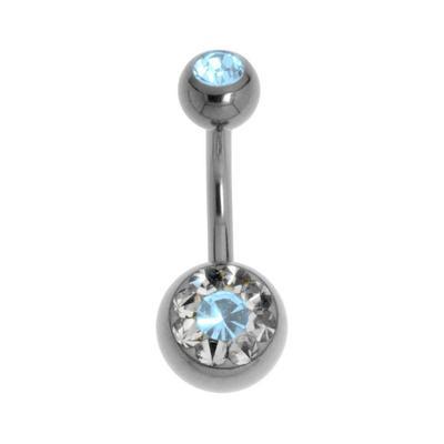 Bauchpiercing Titan Swarovski Kristall