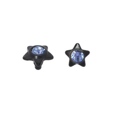 Dermal-Anchor Aufsatz Titan Kristall PVD Beschichtung (schwarz) Stern