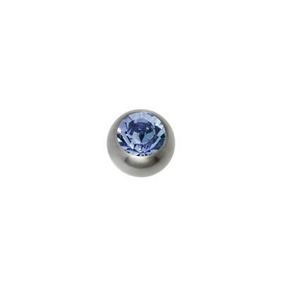 1.2mm Titan Piercingteil Titan Kristall