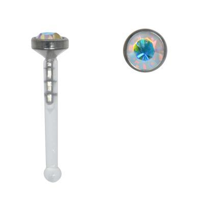 Nasenpiercing Titan Bioplast Swarovski Kristall
