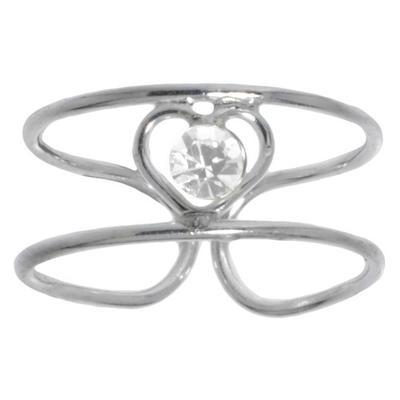 Anello piede Argento 925 Cristallo Cuore Amore