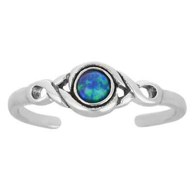 Zehenring Silber 925 Opal