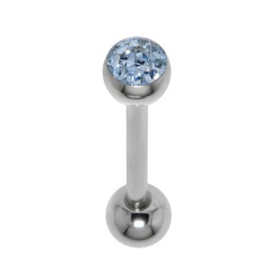 Zungenpiercing Chirurgenstahl 316L Kristall Epoxiharz