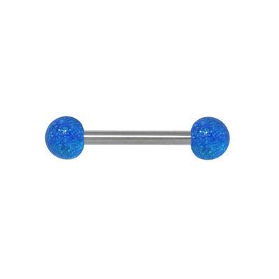 Zungenpiercing Chirurgenstahl 316L Acrylglas