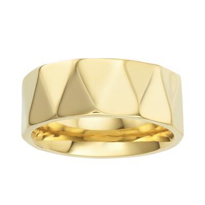 Anello in Titano Titanio Rivestimento PVD (colore oro)