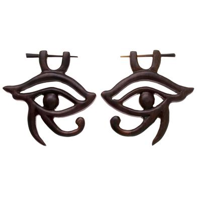 Ohrringe Sonoholz Auge Iris Pupille