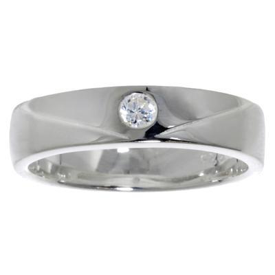 Fingerring Silber 925 Kristall Streifen Rillen Linien
