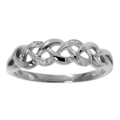 Fingerring Silber 925 Zirkonia Welle