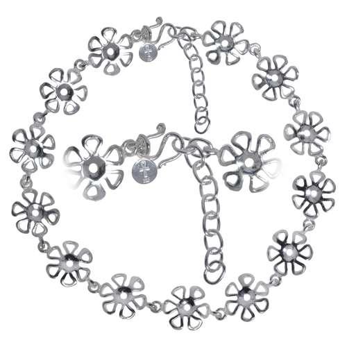 Fusskettchen Silber 925 Blume