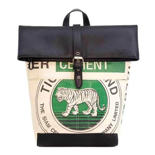 elephbo Recycelter Zementsack aus gewebtem Kunststoff Kunstleder Raubkatze Tiger Löwe