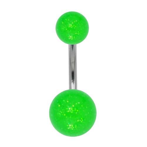 Piercing ventre Metallo chirurgico 316L Vetro acrilico