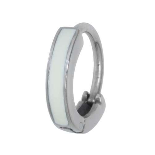 Bauchpiercing Chirurgenstahl 316L Email Silber 925