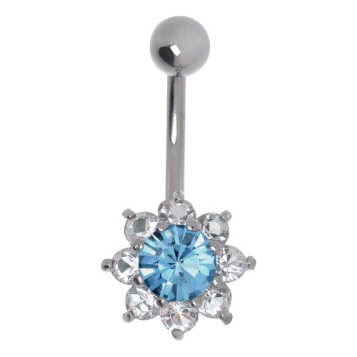 Precise Piercing Nombril Crystal En Acier Chirurgical 316l Body Piercing Jewelry Fashion Jewelry
