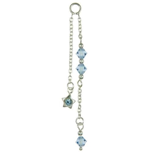 Piercing pendente Argento 925 Cristallo Stella