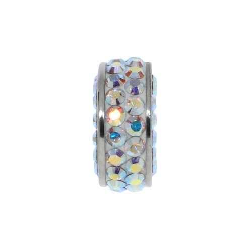 Bead Chirurgenstahl 316L Swarovski Kristall