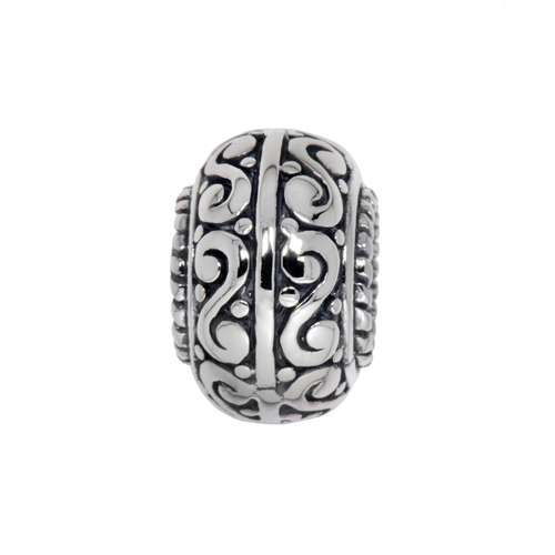 Bead Silber 925 Tribal_Zeichnung Tribal_Muster Spirale